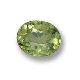 thumb image of 0.5ct Oval Facet Green Demantoid Garnet (ID: 461539)