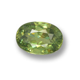 thumb image of 0.6ct Oval Facet Green Demantoid Garnet (ID: 461541)