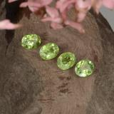 thumb image of 0.4ct Oval Facet Lime Green Demantoid Garnet (ID: 467947)