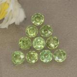 thumb image of 1.1ct Round Facet Golden Green Demantoid Garnet (ID: 468978)