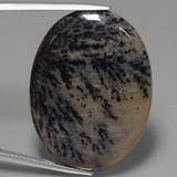thumb image of 34.1ct Oval Cabochon Multicolor Dendritic Agate (ID: 447833)