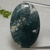 thumb image of 42.1ct Oval Cabochon Multicolor Dendritic Agate (ID: 469316)