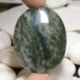 thumb image of 78.2ct Oval Cabochon Multicolor Dendritic Agate (ID: 470930)