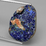 thumb image of 9.1ct Fancy Crystal Cluster Blue Druzy Azurite (ID: 433522)