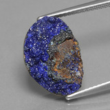 thumb image of 7.1ct Fancy Crystal Cluster Blue Druzy Azurite (ID: 434131)