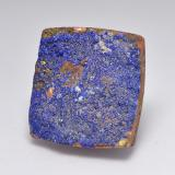 15.81 ct Regroupement Baguette de Cristal Greyish Blue Druzy Azurite gemme 18.66 mm x 18 mm (Photo B)