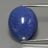 thumb image of 18.8ct Oval Cabochon Blue Dumortierite Quartz (ID: 403149)