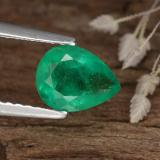 thumb image of 0.8ct Pear Facet Green Emerald (ID: 253732)