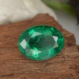 1.48 ct Oval Facet Electric Green Emerald Gem 8.87 mm x 6.6 mm (Photo B)