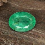 thumb image of 1.1ct Oval Facet Green Emerald (ID: 342157)
