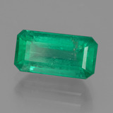 2.10 ct Octagon facette Medium Deep Green Émeraude gemme 10.49 mm x 5.5 mm (Photo B)