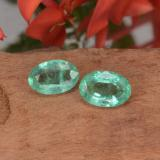 thumb image of 0.8ct Oval Facet Green Emerald (ID: 411956)