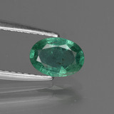 thumb image of 0.6ct Oval Facet Green Emerald (ID: 412215)