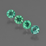 thumb image of 0.6ct Round Facet Green Emerald (ID: 412257)