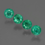thumb image of 1.1ct Round Facet Green Emerald (ID: 412261)