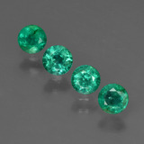 thumb image of 1ct Round Facet Green Emerald (ID: 412262)