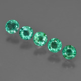 thumb image of 0.9ct Round Facet Green Emerald (ID: 412263)