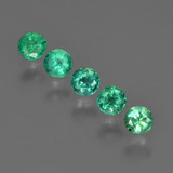 thumb image of 0.8ct Round Facet Green Emerald (ID: 412264)