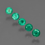 thumb image of 0.8ct Round Facet Green Emerald (ID: 412265)