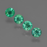 thumb image of 1ct Round Facet Green Emerald (ID: 412406)