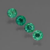 thumb image of 1.3ct Round Facet Green Emerald (ID: 412408)