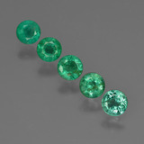 thumb image of 1.1ct Round Facet Green Emerald (ID: 412411)