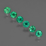 thumb image of 1.1ct Round Facet Green Emerald (ID: 412412)