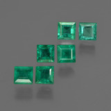 thumb image of 2.5ct Square Facet Green Emerald (ID: 412413)