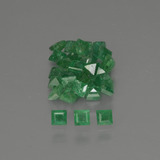 thumb image of 1.5ct Square Facet Green Emerald (ID: 413824)
