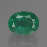 thumb image of 4.2ct Oval Facet Green Emerald (ID: 415937)