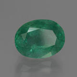 4.20 ct Oval Facet Green Emerald Gem 11.48 mm x 8.9 mm (Photo B)