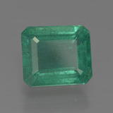 3.89 ct Octagon Facet Medium Emerald Green Emerald Gem 9.74 mm x 8.5 mm (Photo B)