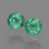 thumb image of 0.6ct Round Facet Green Emerald (ID: 428800)