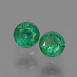 thumb image of 0.5ct Round Facet Green Emerald (ID: 428801)