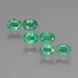 thumb image of 1ct Oval Facet Green Emerald (ID: 428882)