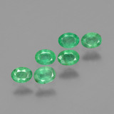 thumb image of 0.8ct Oval Facet Green Emerald (ID: 428887)