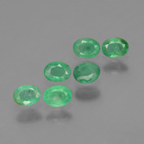 thumb image of 0.8ct Oval Facet Green Emerald (ID: 428891)