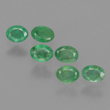 thumb image of 0.9ct Oval Facet Green Emerald (ID: 428964)