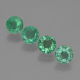 thumb image of 0.9ct Round Facet Green Emerald (ID: 429516)