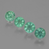 thumb image of 1.1ct Round Facet Green Emerald (ID: 429519)