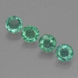 thumb image of 1ct Round Facet Green Emerald (ID: 429520)