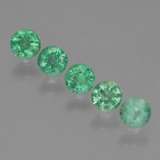 thumb image of 0.9ct Round Facet Green Emerald (ID: 429524)