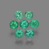 thumb image of 1ct Round Facet Green Emerald (ID: 429603)