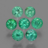 0.15 ct Round Facet Light Green Emerald Gem 3.27 mm  (Photo B)