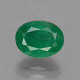thumb image of 2.2ct Oval Facet Green Emerald (ID: 429701)