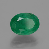 2.18 ct Oval Facet Green Emerald Gem 9.24 mm x 7.1 mm (Photo B)