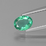 thumb image of 0.4ct Oval Facet Green Emerald (ID: 439216)