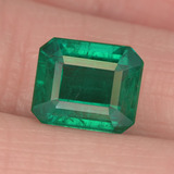 thumb image of 3.1ct Octagon Step Cut Green Emerald (ID: 459477)