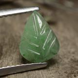 thumb image of 1ct Carved Leaf Green Emerald (ID: 491614)