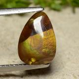 thumb image of 2.8ct Pear Cabochon Multicolor Fire Agate (ID: 486742)